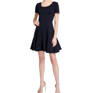 Rebecca Taylor Textured Scallop Fit-&-Flare Dress